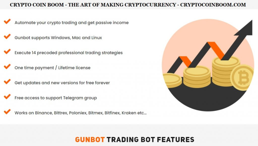 Gunbot Review - Gunbot Is A Profitable Crypto Trading Bot Launched In 2016, With 14 Pre-Coded Trading Strategies Which Uses Bitrage Arbitrage